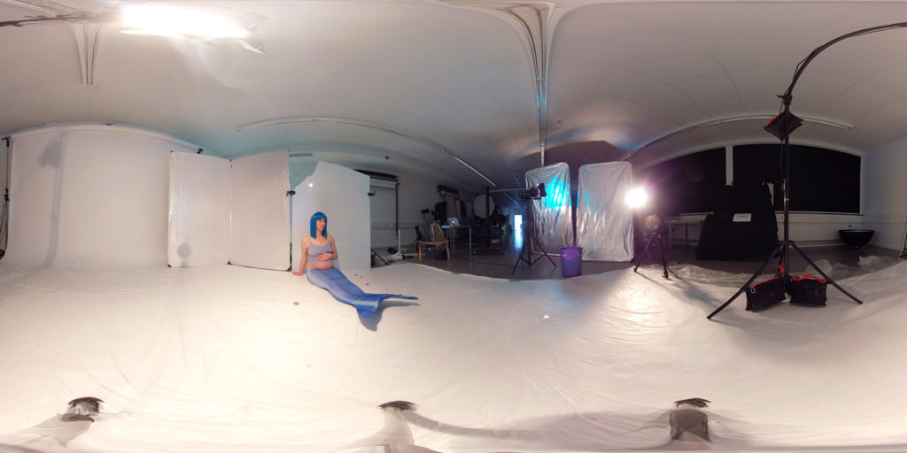 Behind the Scenes of Cyan Cube: Shooting the Model