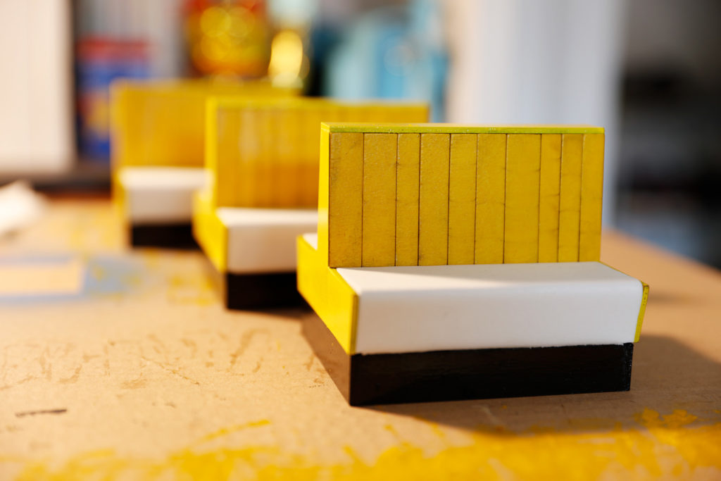 Behind the Scenes of Yellow Cube: The Finished Benches