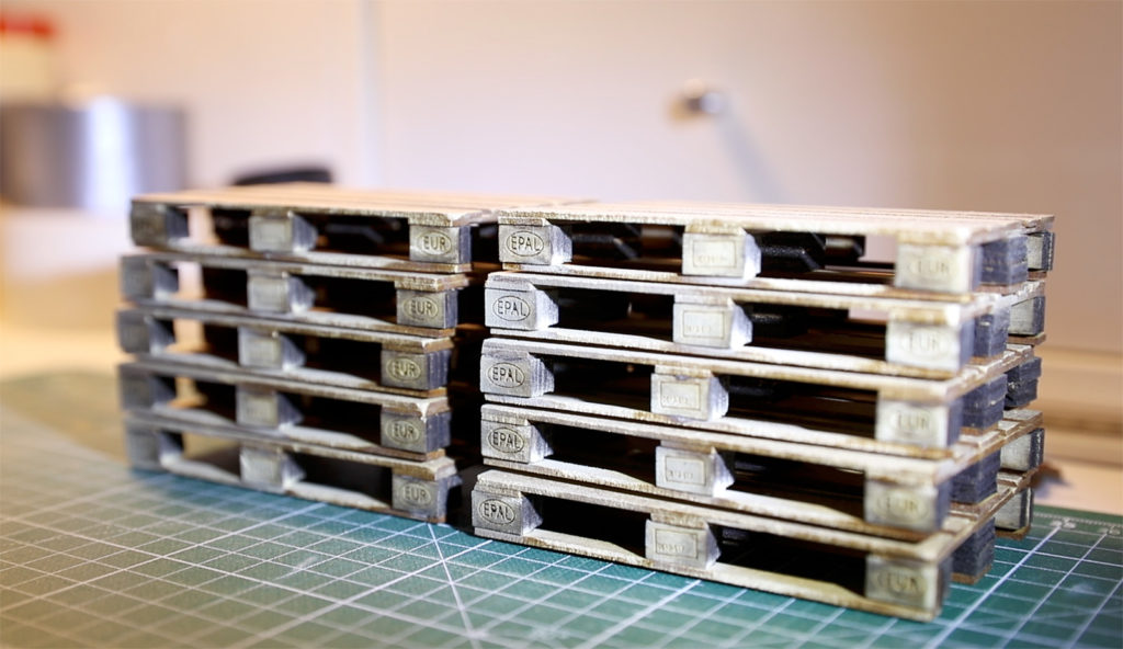 Behind the Scenes of Blue Cube: Creating Miniature Euro-Pallets