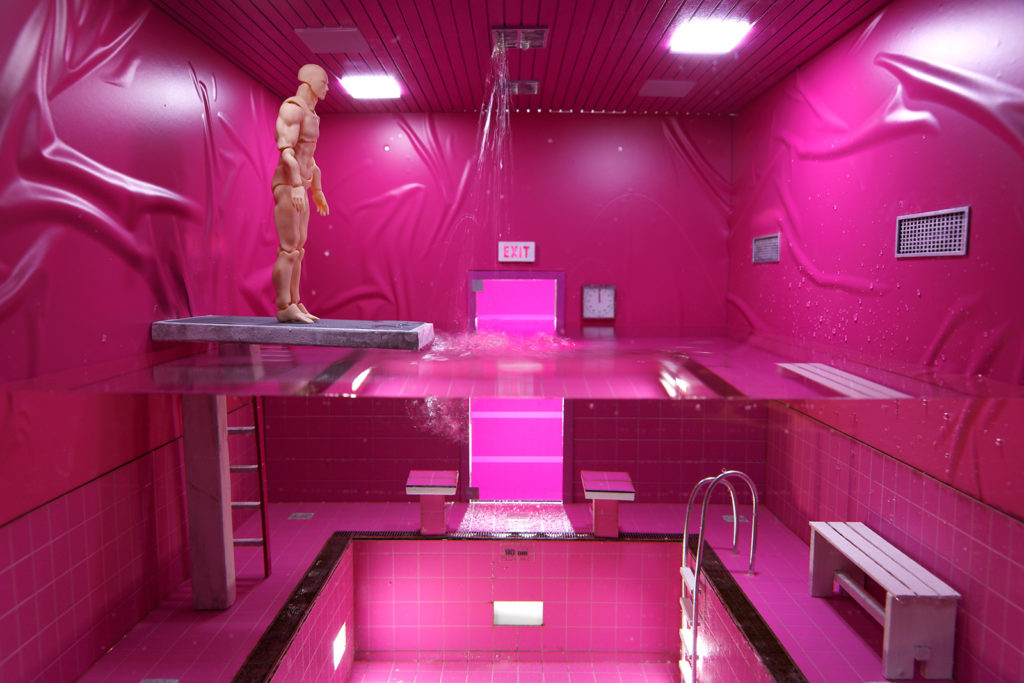 Behind the Scenes of Magenta Cube: Filling the Diorama with Water